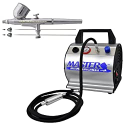 Master Airbrush .2.3.5mm Pro Airbrush 7cc Cup with Airbrush Depot TC-60 Air Compressor