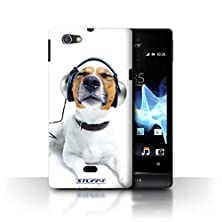 buy Stuff4 Phone Case / Cover For Sony Xperia Miro/St23I / Chillin Headphone Dog Design / Funny Animals Collection
