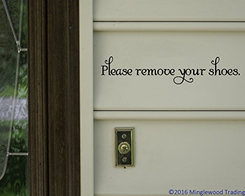 Please Remove Your Shoes BLACK custom vinyl decal sticker 11.5