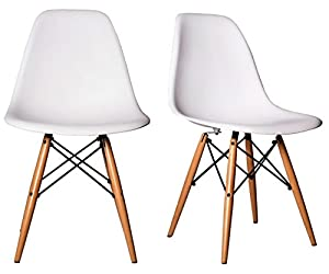 Amazon Com Chelsea Dsw Molded Plastic Dining Side Chairs