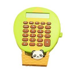 8 Digits LCD Display Ballon Shape Business Mini Calculator, Green