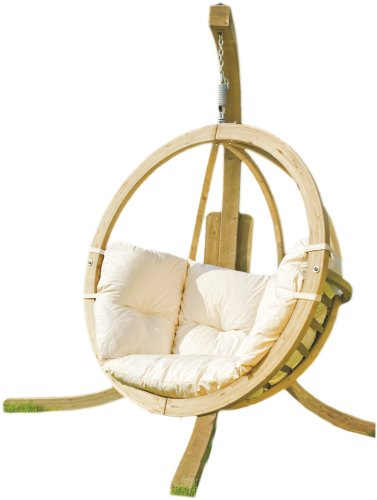 Globo Spruce Wooden Swing Seat and Stand