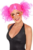 Smiffy's 1980's Bunches Pink Wig