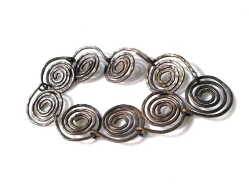 Bronze Chest - Handmade Coiled Wire Bracelet in Bronze