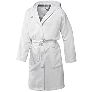 adidas Herren Bademantel Bathrobe, white/prime blue s12, S, X13089,