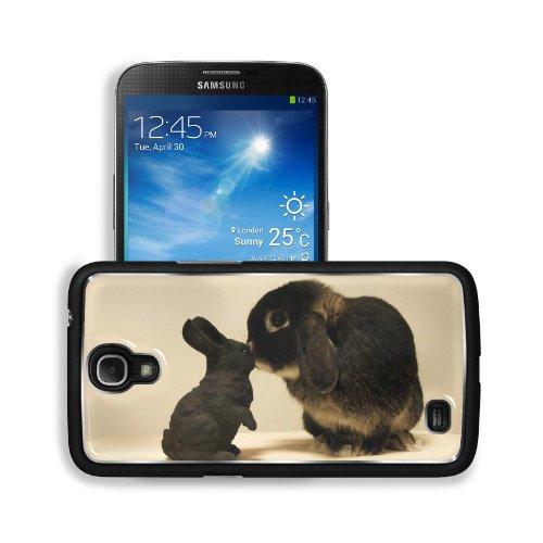 Rabbit White Black Brindle Baby Animal Samsung Galaxy Mega 6.3 I9200 Snap Cover Premium Aluminium Design Back Plate Case Customized Made To Order Support Ready 6 5/8 Inch (168Mm) X 3 9/16 Inch (91Mm) X 4/8 Inch (12Mm) Liil Galaxy Mega 6.3 Professional Met