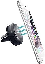 Porta cellulare, supporto da auto magnetico per bocchetta aria compatibile con iPhone 6 / 6 plus / 5 / 5S / 5C / 4 / 4S, Samsung Galaxy S6 / S5 / S4 / Note 4/3, Google Nexus, LG G3 e qualsiasi altro smartphone o dispositivo GPS - realizzato da Automobio (TM)