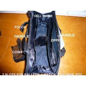 $ 13.99 FREE SHIP USA NEW BLACK Hand bag Purse/Tote Insert Organizer Addon – SWITCH BAGS IN SECONDS!