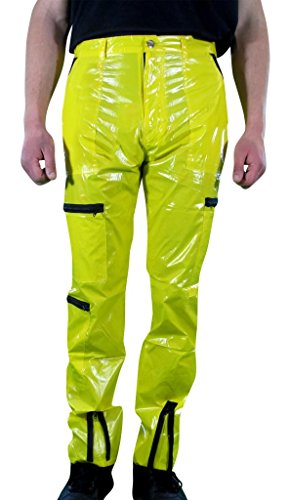 Countdown Men's Shiny Nylon/Plastic 80s Parachute Pants with Zippers 40 (40