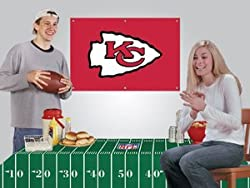 Kansas City Chiefs Game/Tailgate Party Kits Banner &amp; Tablecloth NFL Football Fan Shop Sports Team Merchandise