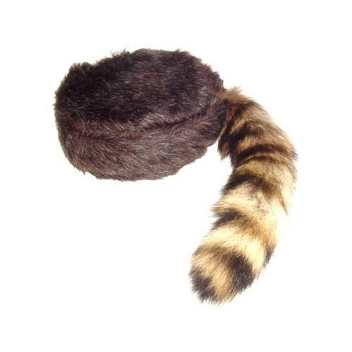Davy Crockett or Daniel Boon Style Coon Skin Hat with Real Tail Size X Large