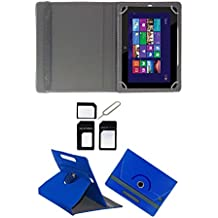Hello Zone With Free Sim Adapter Kit HCL ME Connect 2G V1 360 Rotating 7 Inch Flip Case Cover Book Cover -Blue