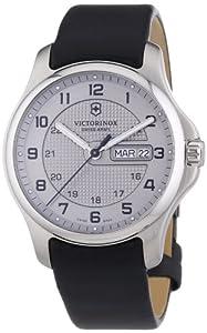 Victorinox Swiss Army 241550 - Reloj analógico de cuarzo para hombre con correa de piel, color negro