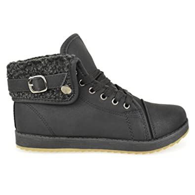 Item title: LADIES WOMENS ARMY COMBAT FLAT GRIP SOLE FUR LINED WINTER WALKING ANKLE BOOTS SHOES SIZE (UK 3 / EU 36 / US 5, Black)