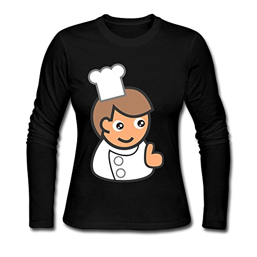 onlyprint-womens-cartoon-restaurant-cook-hip-pop-long-sleeve-t-shirt-size-xl-us-black