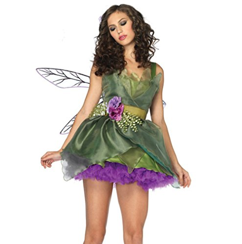 Women's Sexy Green Elf Queen Halloween Costume
