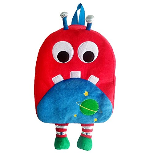 Sassafras KiddyBopBags Plush Space Monster Backpack