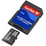 Sandisk 8gb Micro SDHC card with SD adapter