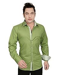 Arany's Premium Green Slim Fit Party Wear Shirt For Men - F05510