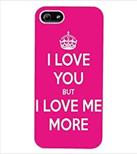 ColourCraft Quote Design Back Case Cover for APPLE IPHONE 5S