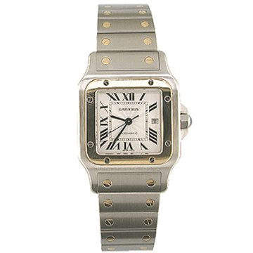 Cartier Men's W20058C4 Santos Galbee Stainless Steel and 18K Gold Watch