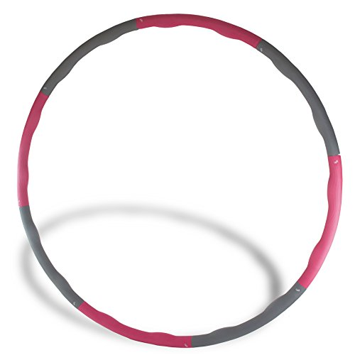 The Friendly Swede 2.65 lbs Weighted Core Toning Fitness Exercise Hula Hoop, 40