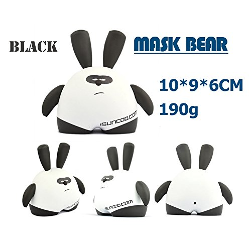 iNewcow MASK BEAR Cute Originality Dolls Car Decorations Birthday Gift For Kids 10*9*6CM (Black MoMo) - 1