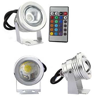 Sodial r 10w rgb led projecteur orientable etanche de l for Projecteur led rgb exterieur