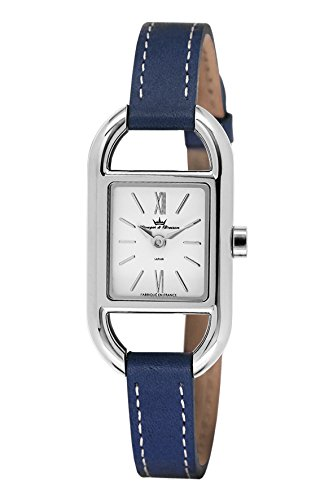 Yonger & Bresson - DCC 1694-03 - Ladies Watch - Analogue Quartz - Silver Dial - Blue Leather Bracelet