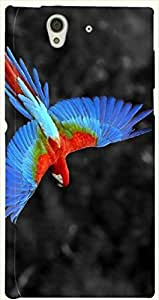 Pretty multicolor printed protective REBEL mobile back cover for Sony Xperia Z L36h D.No.N-L-17778-S36