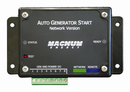 Magnum Energy Me-Ags-N Automatic Generator Start Module 3-Relay With Voltage And Temp Start/Network Version, Selectable Cabin Temperature For Genstart 65-85 °F, Selectable Battery Voltage For Genstart 10-12 Vdc Or 20-22 Vdc, Selectable Generator Run Time