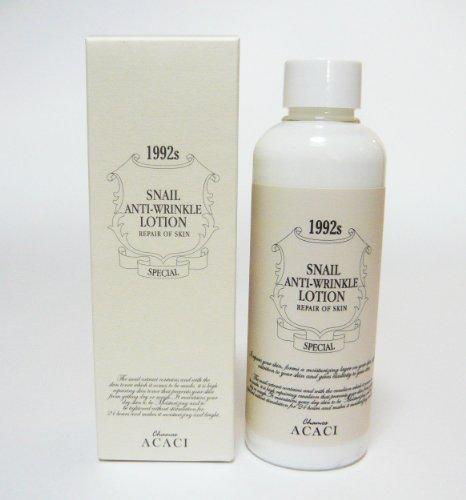 韓国スネイルコスメ Snail Repair Skin Care 皮膚再生化粧品 カタツムリエキス配合 高濃度 エマルジョン (ローション) Snail AntiーWrinkle Lotion 200ml CHAMOS ACACI