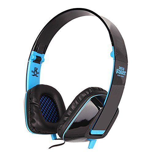Jolly Roger M2 Headset Heavy Bass Magic Sound Single-Aperture With Hidden Microphone (Blue)