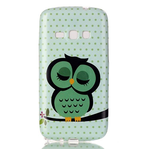 Galaxy J1 Case,Samsung Galaxy J1 Case, Urberry [Cute Owl Unique Design] TPU Soft Case Cover for Samsung Galaxy J1 with a Screen Protector