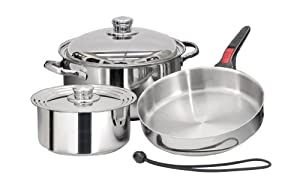 Magma 7 Piece Gourmet Nesting Stainless Steel Cookware Set by Magma Products, Inc.