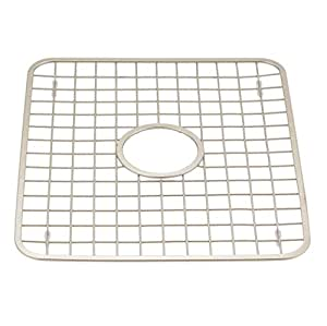 interdesign gia kitchen sink protector grid mat regular with hole satin. Black Bedroom Furniture Sets. Home Design Ideas