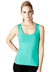 Limited Collection Cotton Rich Vest Top with Stay New™