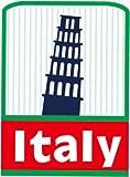 トラベルステッカー イタリア ピサの斜塔 旅行シール~スーツケース・タブレットPCに