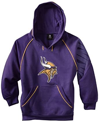 NFL Minnesota Vikings 8-20 Youth Pullover Hoodie, Purple, Small