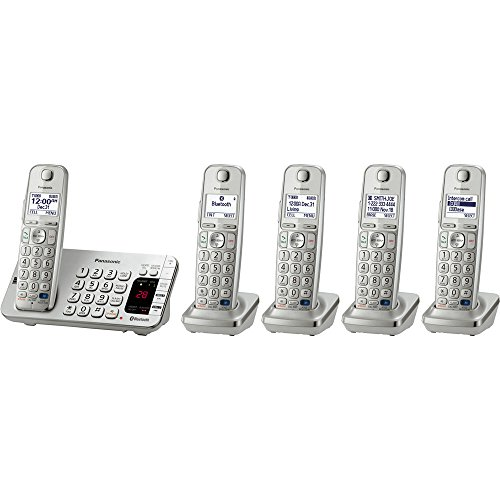 Panasonic Kx-Tge275S Link2Cell Bluetooth Enabled Phone With Answering Machine & 5 Cordless Handsets