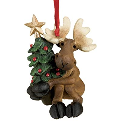 Big Sky Carvers Tree Hugger Moose Ornament