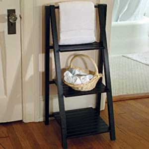 3-Tier Ladder Shelf - Black