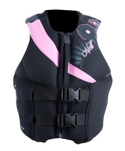 O'Neill Women's Siren Lumbar Support USCG Vest (Blk/Pet/Col, 12)