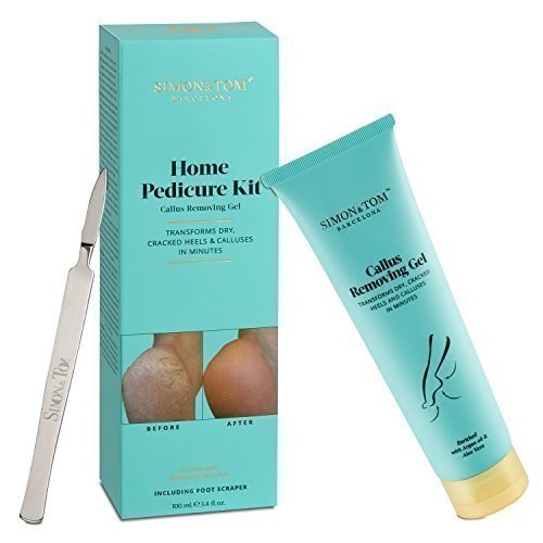"Simon &Tom ""Home Pedicure Kit"" Callus Removing Gel - Trattamento intensivo Anti-Callosità, idrata talloni e piante del piede con Olio di Argan, Aloe Vera e Vitamina E. 100ml"