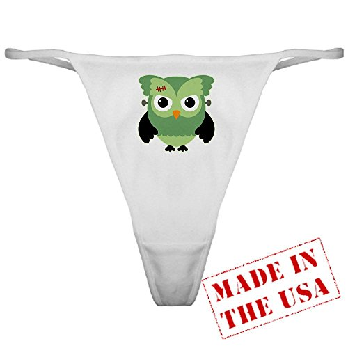 Truly Teague Classic Thong Spooky Little Owl Frankenstein Monster