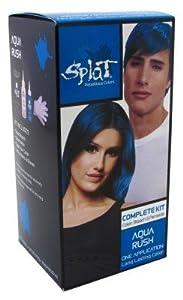 amazoncom splat kit aqua rush chemical hair dyes beauty