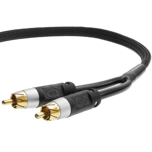 Mediabridge Stereo Cable With Left And Right Audio - Rca To Rca Gold-Plated Connectors (6 Feet)
