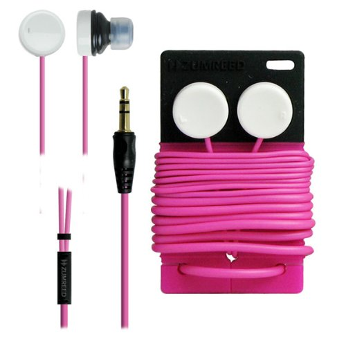 Zumreed / Poppin Bi-Color Earbud Earphones, Pink