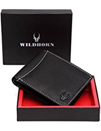 WildHorn Old River Black Genuine High Quality Mens Leather Wallet - B06XP68XCH