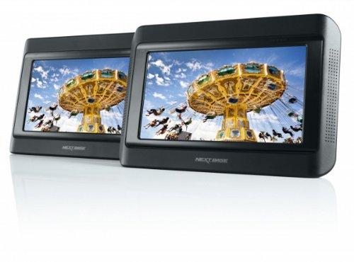 Click 9 Lite Duo tragbarer DVD-Player 22,8 cm (9 Zoll) mit 2 Bildschirmen inkl. Auto-Holmhalterung